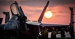 Sailors perform post-flight checks on an F-A-18E Super Hornet. (36092676246).jpg