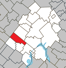 Location within Les Appalaches RCM.