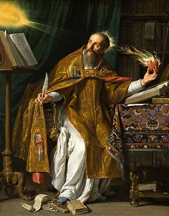 Autobiography - Saint Augustine of Hippo wrote Confessions, the first Western autobiography ever written, around 400. Portrait by Philippe de Champaigne, 17th century.