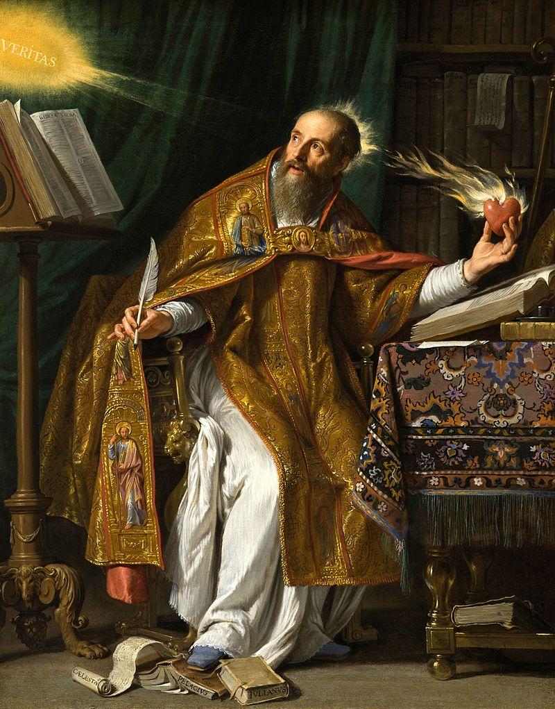 Saint Augustine; Portrait by Philippe de Champaigne, 17th century dans immagini sacre 800px-Saint_Augustine_by_Philippe_de_Champaigne