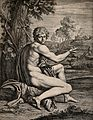 Saint John the Baptist. Etching after Annibale Carracci. Wellcome V0032471.jpg