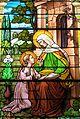 Saint Joseph Catholic Church (Wapakoneta, Ohio) - stained glass, St. Anne educating the Virgin Mary.jpg