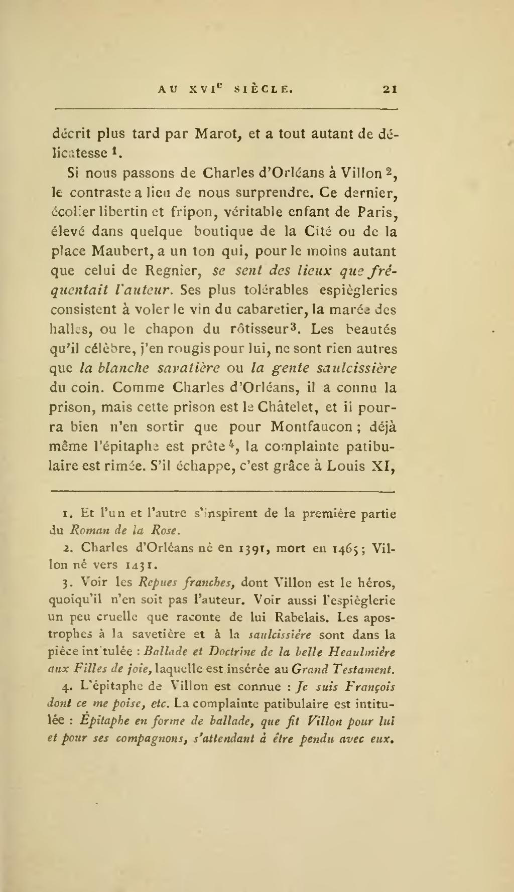 Pagesainte Beuve Tableau De La Poésie Française Au Xvie