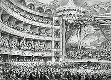 interior of 19th century theatre
