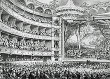 intérieur du théâtre du 19e siècle