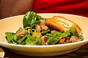 Salmon Spinach Panzanella