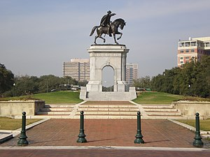 Hermann Park - Image: Sam Houston monument, Hermann Park