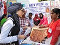 Sameera Aziz with SETWIN worker for a woman development program.JPG