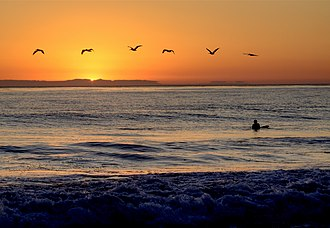 San Clemente State Beach - Sunset over San Clemente State Beach, 2009.