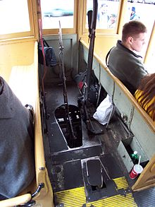 San francisco cable car system wikipedia a view of the controls inside cable car no 58 sciox Choice Image