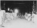 San Francisco Earthquake of 1906, A warehouse, one of the many relief stations (showing United States Army guards) - NARA - 531056.tif