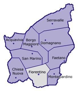 Village in Fiorentino, San Marino