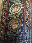 San vitale, ravenna, int., presbiterio, mosaici volta e arcone 05.JPG