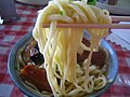Sanmai niku soba closeup by ayustety in Nago, Okinawa.jpg