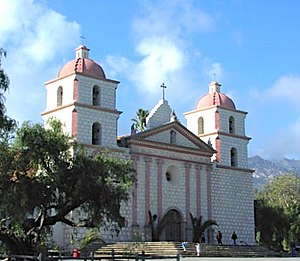 "Santa Barbara, California - Mission Santa Barbara, known as ""the Queen of the Missions,"" was founded in 1786."