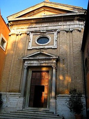 Santa Prisca Church of Rome - Façade of Santa Prisca.