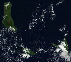 Outline of Comoros - An enlargeable satellite image of the Comoros