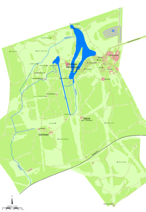 Schönbusch (Aschaffenburg) - Map of the park