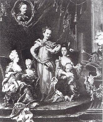 Marie Leszczyńska - Schwartz Stanisław Leszczyński and his family
