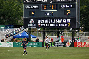 2009 WPS All-Star Game - Scoreboard at the Soccer Park in Fenton MO.