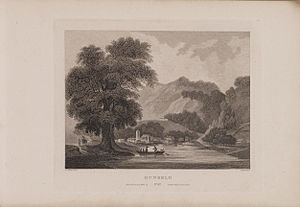 Dunkeld and Birnam - Engraving of Dunkeld by James Fittler in Scotia Depicta, published 1804