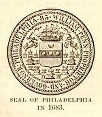 History of Philadelphia - Philadelphia's seal when founded