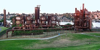 Gas Works Park - The old gasification plant.