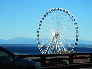 Seattle Great Wheel in October