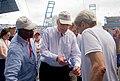 Secretary Kerry Speaks With Senator Leahy of Vermont at Estadio Latinoamericano in Havana, Cuba (25973588846).jpg