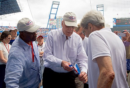 Secretary Kerry Speaks With Senator Leahy of Vermont at Estadio Latinoamericano in Havana, Cuba (25973588846).jpg