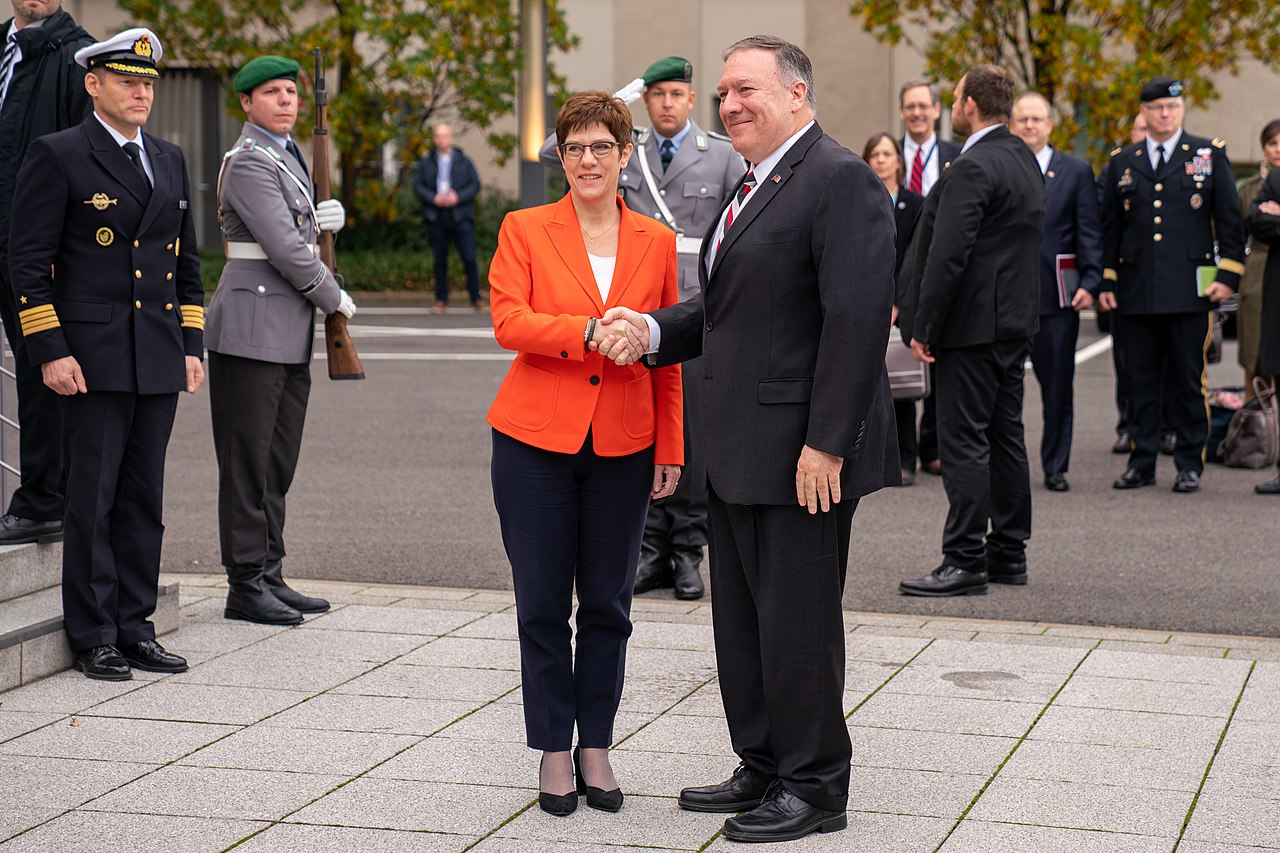Secretary Pompeo Meets with Defense Minister Kramp-Karrenbauer (49032603551).jpg