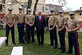 Secretary Tillerson Poses for a Photo With the Marine Security Guard Detachment at the U.S. Embassy in Ankara (32945645103).jpg
