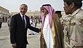 Secretary of Defense Chuck Hagel thanks Prince Fahd bin Abdullah, Deputy Minister of Defense, for hosting him in Riyadh, Saudi Arabia, April 24, 2013.jpg
