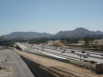 Interstate 215 (California) - Construction between Inland Center Drive and Orange Show Road in San Bernardino