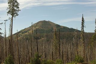 Hoodoo Butte mountain in United States of America