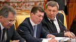 Sergey Shoigu, Maksim Topilin and Igor Slyunyaev 30 May 2013.jpg