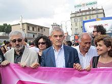 Chiamparino al Gay pride di Torino del 2014