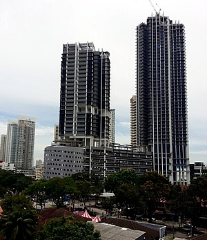 Setia V Residences - Setia V Residence B (left) and A (right). The latter is the second tallest skyscraper in Penang.