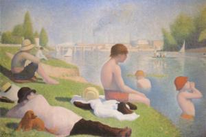 English: Bathers at Asnières, Georges Seurat, ...