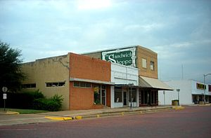 Seymour, Texas - A row of businesses in Seymour