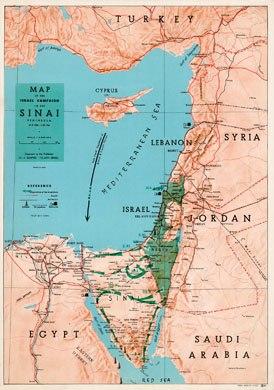Shapiro War map 1956 35x50cm
