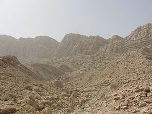 Shapur cave from below.JPG