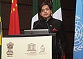 Shashi Tharoor addressing on the inclusive relevant and quality education for all, at the inaugural ceremony of E9 Ministerial Review Meeting, in New Delhi on November 09, 2012.jpg
