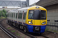 London Overground class 378 train at Shepherd's Bush railway station