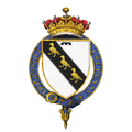 Shield of arms of George Curzon, 1st Earl Curzon of Kedleston, KG.png