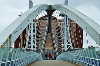 Salford Quays - Ship Canal bridge and Office Block
