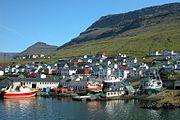 Small shipyard in Klaksvík (Faroe Islands), reparing fishing vessels