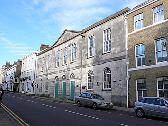 Dorchester, Dorset - Shire Hall in High West Street, where the trial of the Tolpuddle martyrs took place