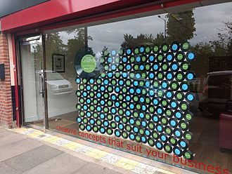 Shopify - A Shopify window display in north London.