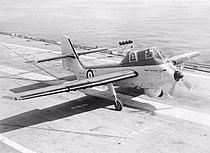 Short Seamew landing on HMS Bulwark (R08) 1955.jpg